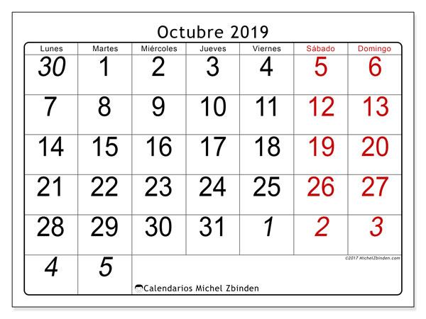 Calendario Michel Zbinden.Octubre 2019 Images Reverse Search