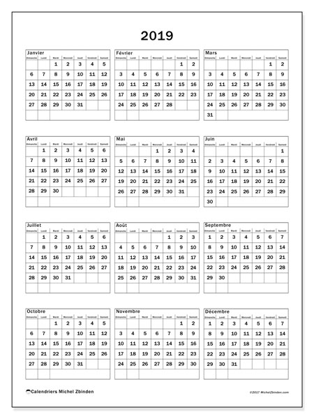 Calendrier 2019 (36DS)