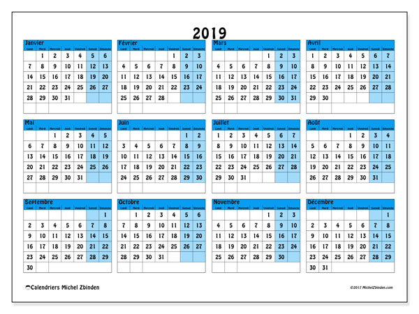 Calendrier 2019 (39LD)
