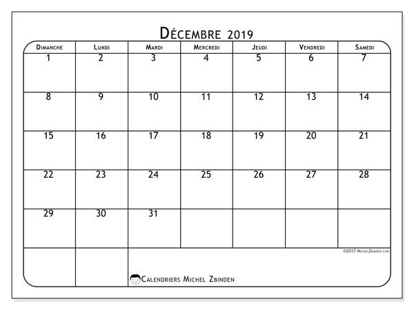 Calendriers décembre 2019 (DS) - Michel Zbinden FR