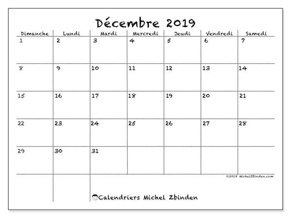 Calendrier Mensuel Decembre 2019.Calendrier Decembre 2019 77ds Michel Zbinden Fr