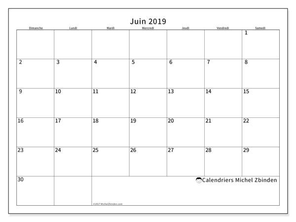 Calendrier Mensuel Juin 2019.Calendrier Juin 2019 53ds Michel Zbinden Fr