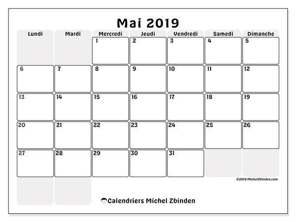 Calendrier Mai2019.Calendriers Mai 2019 Ld Michel Zbinden Fr