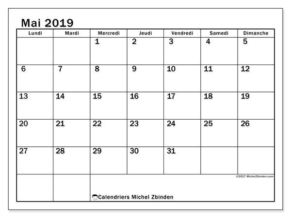 Calendrier Mai2019.Calendrier Mai 2019 50ld Michel Zbinden Fr