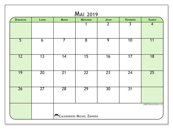 Calendrier Mai 2019 A Imprimer Gratuit.Calendrier Mai 2019 65ds Michel Zbinden Fr