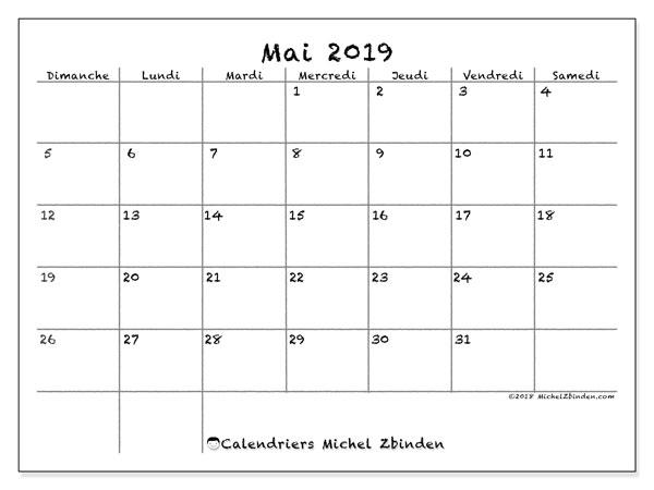Calendrier Mai2019.Calendrier Mai 2019 77ds Michel Zbinden Fr
