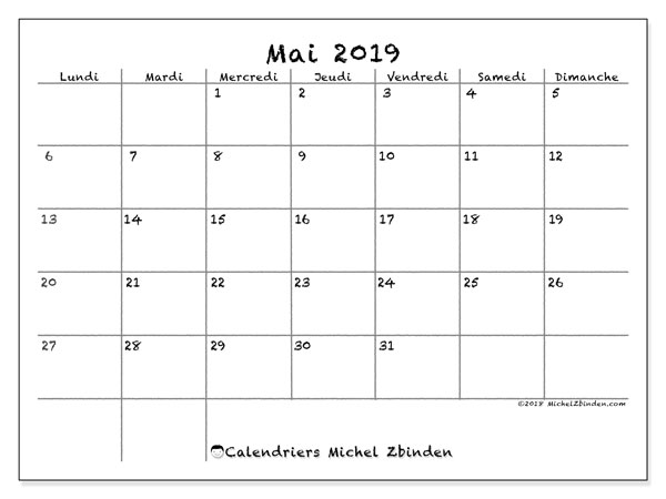 Calendrier Mai2019.Calendrier Mai 2019 77ld Michel Zbinden Fr