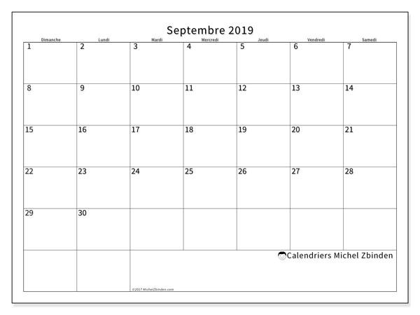Calendrier Septembre 2020 Septembre 2019.Calendrier Septembre 2019 53ds Michel Zbinden Fr