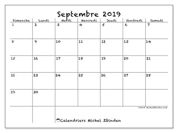 Calendrier Septembre 2020 Septembre 2019.Calendrier Septembre 2019 77ds Michel Zbinden Fr