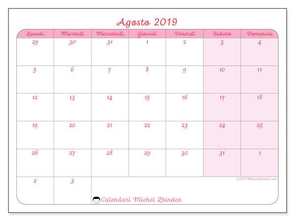 Calendario Agosto 2019 Da Stampare Gratis.Calendario Agosto 2019 76ld Michel Zbinden It