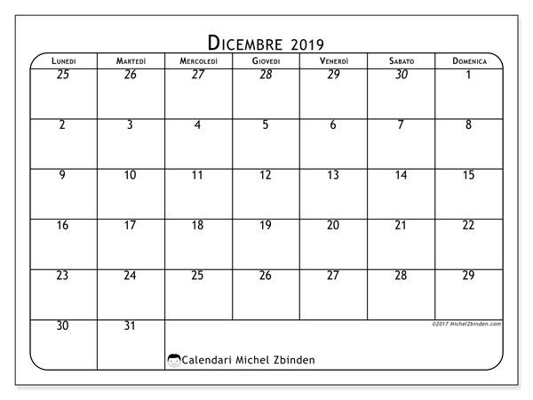 Calendario Dicembre 2019 Stampabile.Calendario Dicembre 2019 67ld Michel Zbinden It