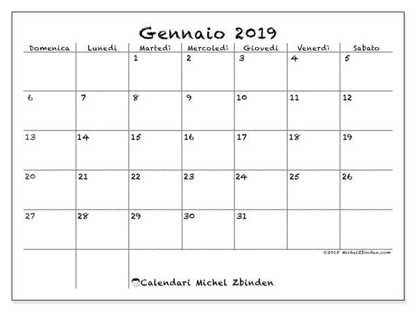 Calendario Gennaio.Calendario Gennaio 2019 77ds Michel Zbinden It