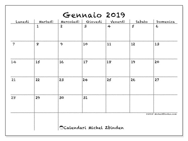 Calendario Giornaliero Da Stampare 2019.Calendari Da Stampare 2019 Ld Michel Zbinden It