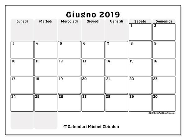 Calendario Giugno 2019 44ld Michel Zbinden It