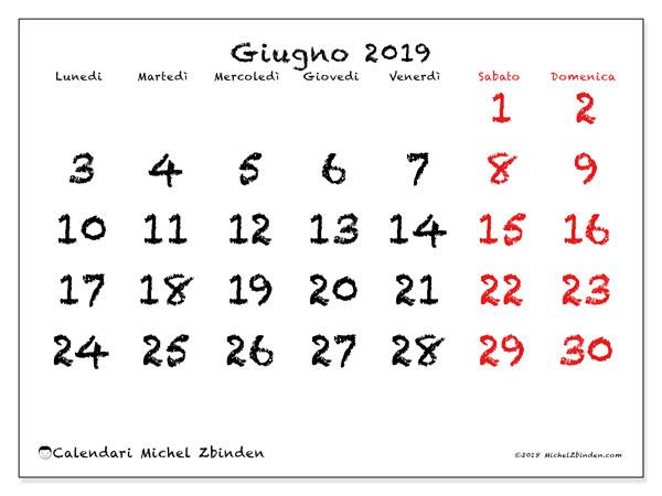 Calendario Principesse 2020.Calendari Giugno 2019 Ld Michel Zbinden It