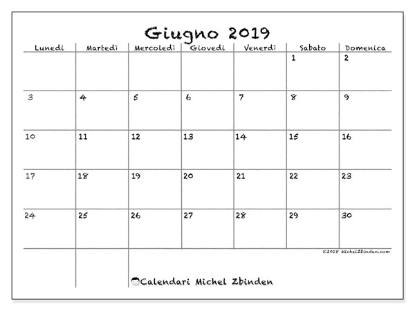 Calendario Giugno 2019 77ld Michel Zbinden It