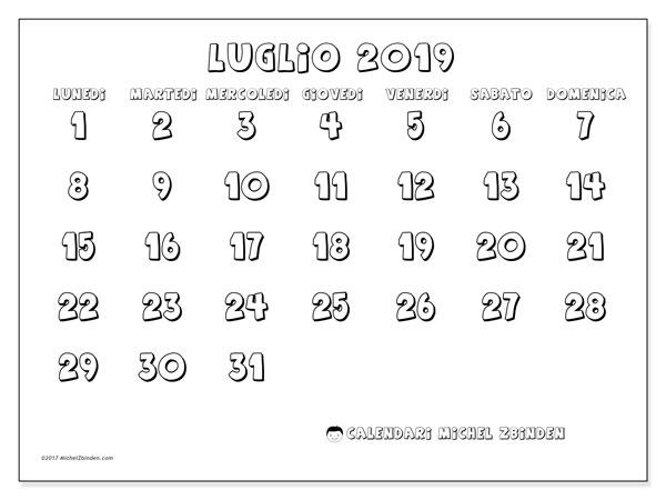 Calendario 31 Luglio.Calendario Luglio 2019 56ld Michel Zbinden It