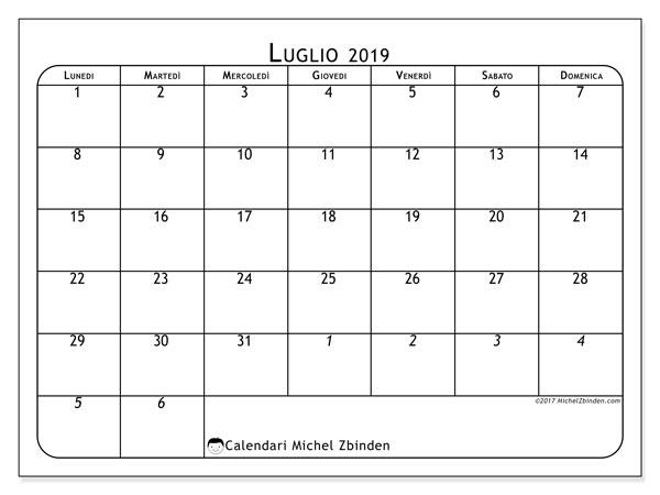 Calendario Mese Di Luglio 2019 Da Stampare.Calendario Luglio 2019 67ld Michel Zbinden It