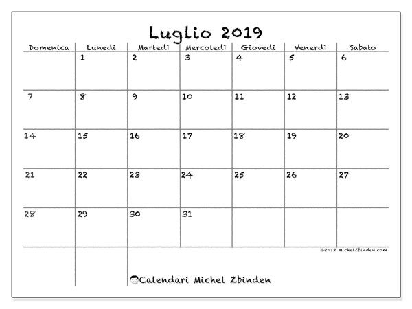 Calendario Luglio 2019 77ds Michel Zbinden It
