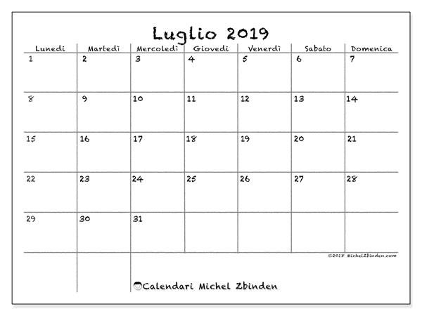 Calendario Da Stampare.Calendario Luglio 2019 77ld Michel Zbinden It
