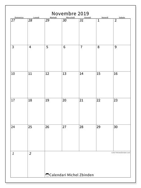 Calendario  novembre 2019, 68DS