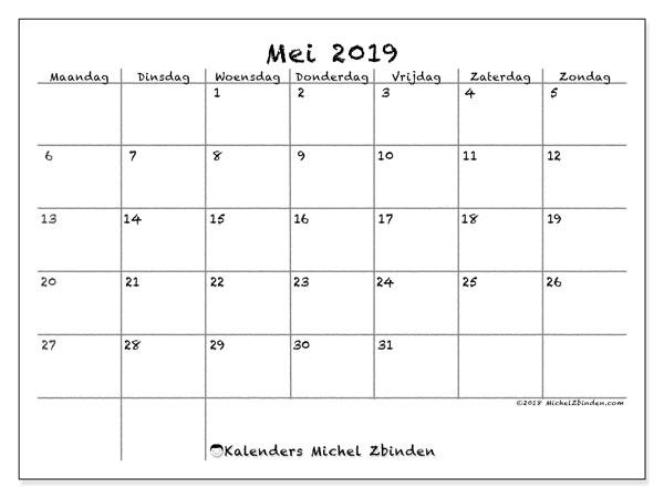 Kalender  mei 2019, 77MZ