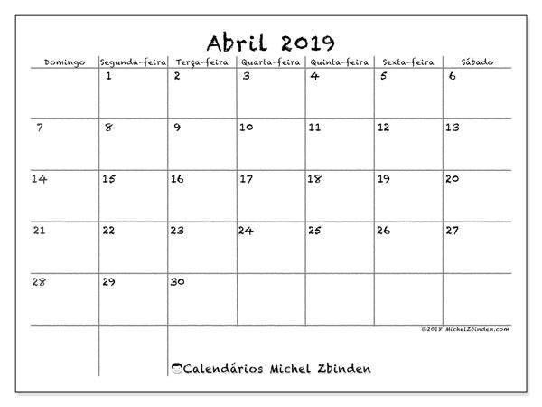 Calendarios Com Feriados 2019