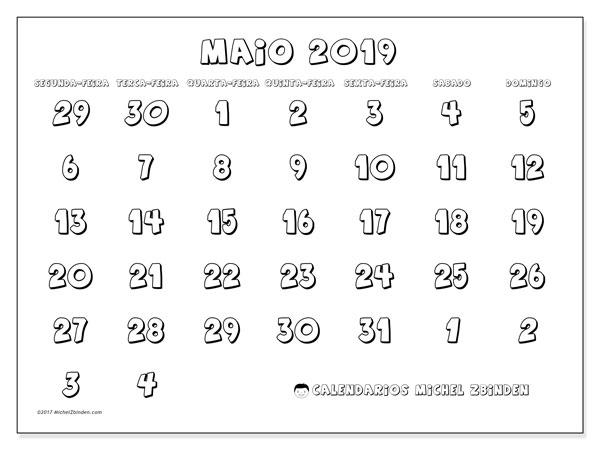 Calendario Maio 2019 71sd Michel Zbinden Pt