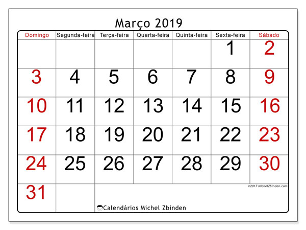 Calendario Marco 2019 62ds Michel Zbinden Pt