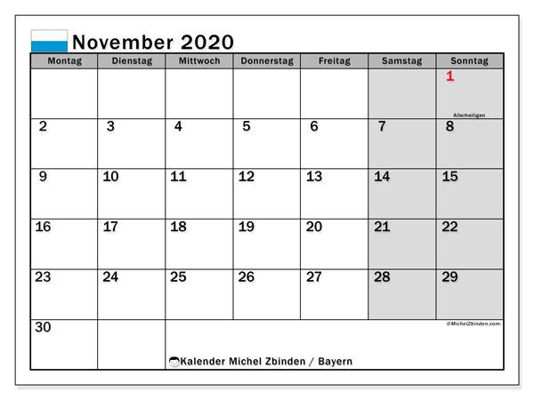 Feiertage November Bayern