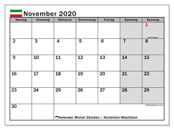 Feiertage Nrw 2020 November