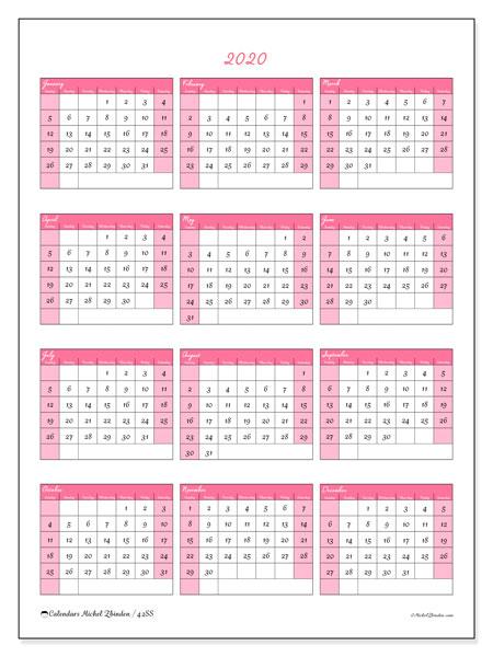 2020 calendars  ss