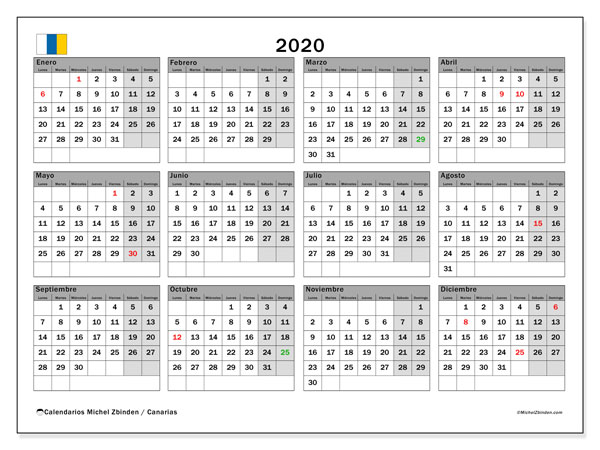 Calendario 2020 2020 Para Imprimir.Top 10 Punto Medio Noticias Calendario Escolar 2020 Canarias