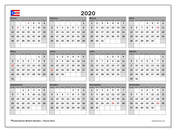 Calendario Puerto Rico 2020 Para Imprimir Michel Zbinden Es