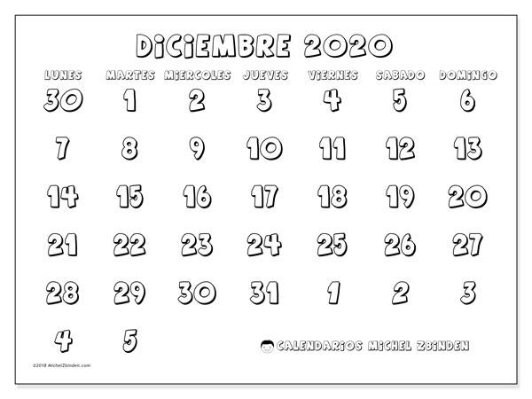 Calendario Diciembre 2020 Para Imprimir.Calendario Diciembre 2020 71ld Michel Zbinden Es