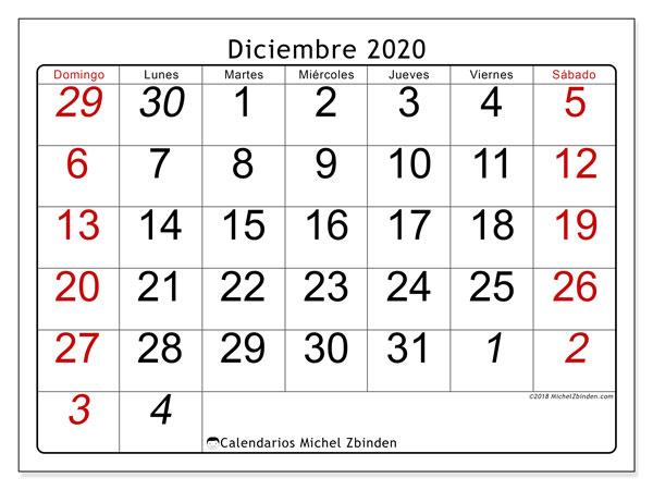Calendario Diciembre 2020 Para Imprimir.Calendario Diciembre 2020 72ds Michel Zbinden Es