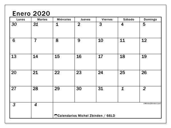 Calendario Enero 2020 Colombia.Calendario Enero 2020 66ld Michel Zbinden Es
