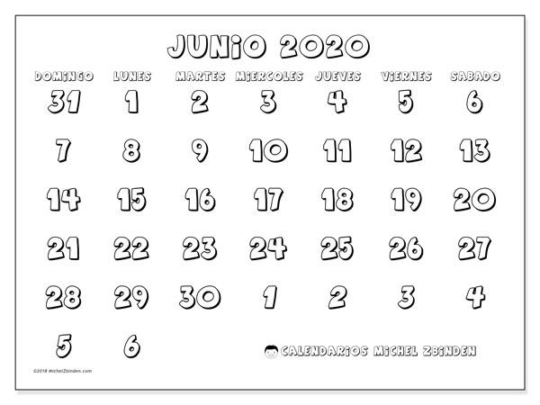 Calendario Junio 2020 71ds Michel Zbinden Es