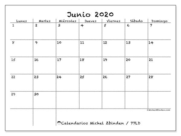 Imprimir Calendario 2020 Por Meses.Calendarios Para Imprimir 2020 Ld Michel Zbinden Es