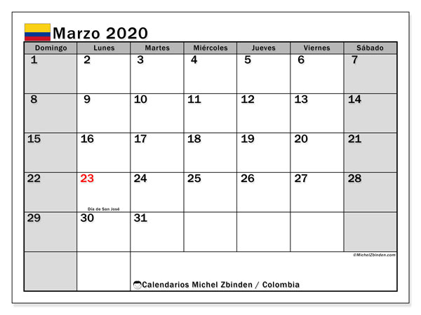 Calendario 18.Https Michelzbinden Com Es Co Calendarios 2019 Calendario 2019