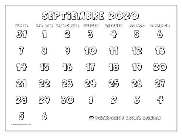 Calendario Dibujo Septiembre.Calendario Septiembre 2020 71ld Michel Zbinden Es