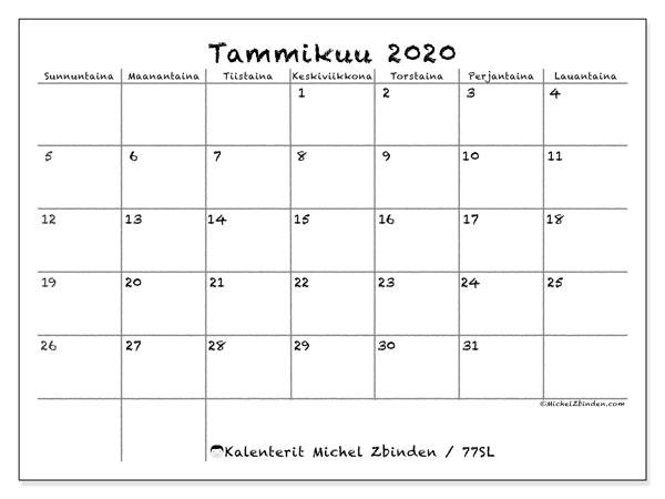 Heinäkuu Kalenteri