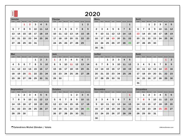 Calendrier 2020 Avec Jours Fériés Vacances Scolaires à Imprimer.Jours Feries 2020 Wit