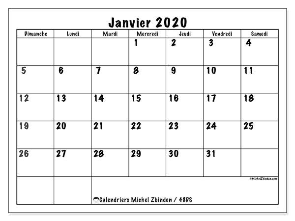 Calendrier Janvier 2020.Calendrier Janvier 2020 48ds Michel Zbinden Fr