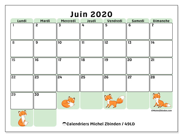 Calendriers juin 2020, 49
