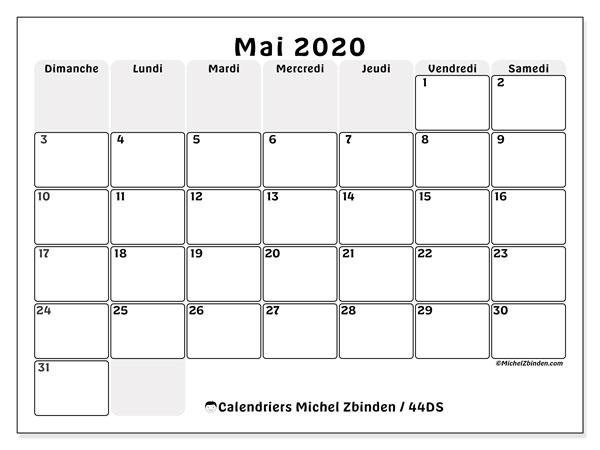 Calendrier Mai 2020 à Imprimer.Calendrier Mai 2020 44ds Michel Zbinden Fr