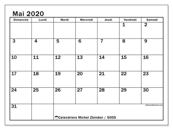 Calendrier Mai 2020 à Imprimer.Calendrier Mai 2020 50ds Michel Zbinden Fr
