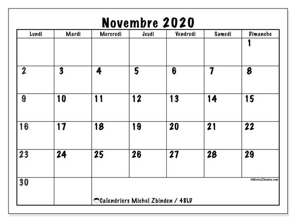 Calendrier Novembre 2020.Calendriers Novembre 2020 Ld Michel Zbinden Fr