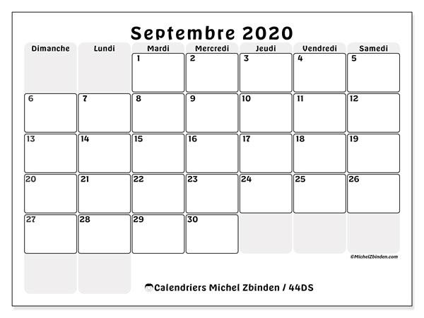Calendrier Septembre 2020.Calendrier Septembre 2020 44ds Michel Zbinden Fr