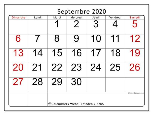 Calendrier Septembre 2020.Calendrier Septembre 2020 62ds Michel Zbinden Fr